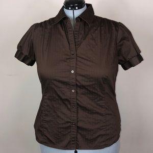 George Stretch Bubble Sleeve Work Shirt 16/18